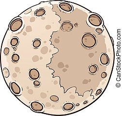 Planet Mercury - Cartoon planet Mercury. Vector clip art ...