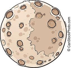 Planet Mercury - Cartoon planet Mercury. Vector clip art...
