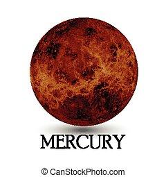 Planet Mercury - Illustration of Planet Mercury