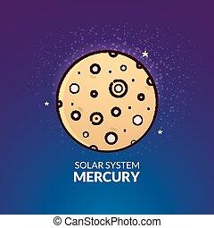 Planet Mercury vector illustration