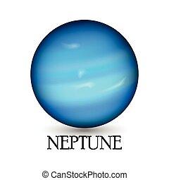Planet neptune - Illustration of Planet neptune