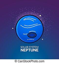 Planet Neptune vector illustration