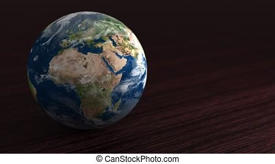 Planet of the solar system Earth. Little planet lies on the ...