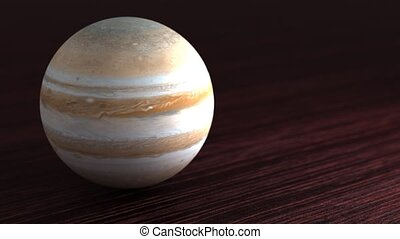 Planet of the solar system Jupiter. Little planet lies on ...