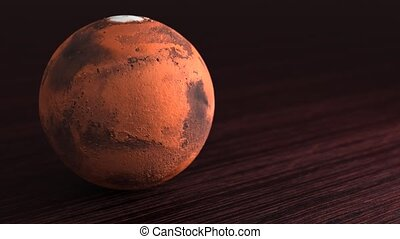 Planet of the solar system Mars. Little planet lies on the ...