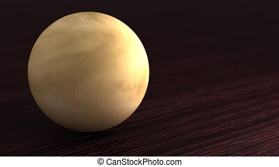 Planet of the solar system Venus. Little planet lies on the ...