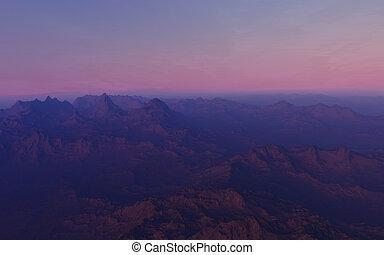 planet, phantastisch, landschaftsbild, ausländer