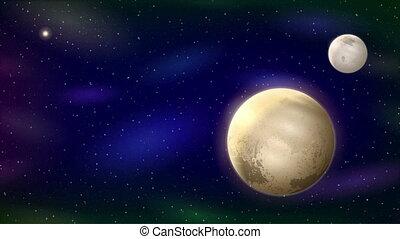 Planet Pluto, Seamless Loop