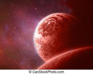 planet, röd