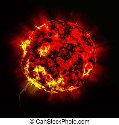 planet, raum, kugel, explosion, plasma