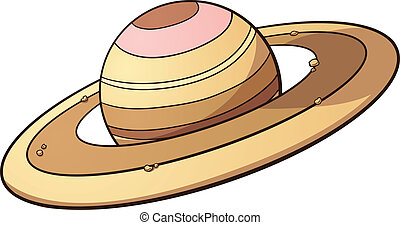 Planet Saturn - Cartoon planet Saturn. Vector clip art...