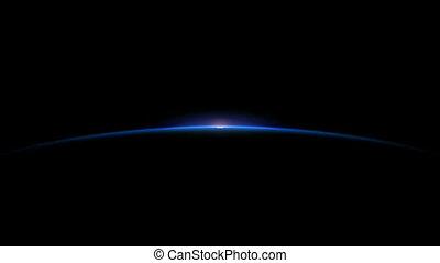 Planet Sunrise - Sun Rising on planet horizon; and the sun...