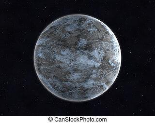 planet, unbekannt, hintergrund, raum
