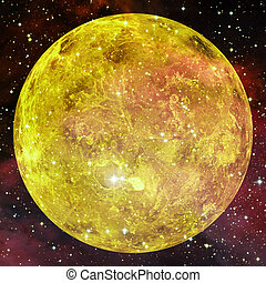 Planet Venus. Elements of this image furnished by NASA
