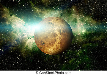 Planet Venus. Elements of this image furnished by NASA. -...