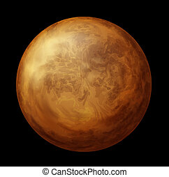 Planet Venus - Illustration of planet Venus