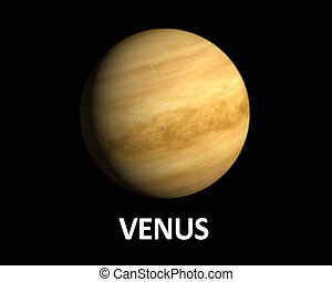 Planet Venus - A rendering of the Planet Venus on a clean...