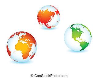 planet, verden, globale, jord