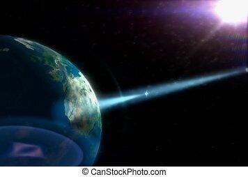 planet, weltraum, technologie