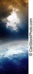 planeta, abstratos, espaço