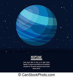 planeta, cartaz, netuno, coloridos