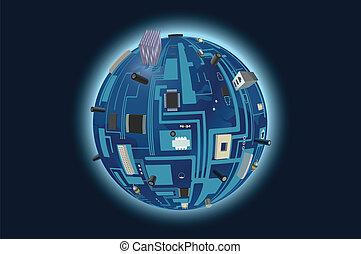 planeta, digital
