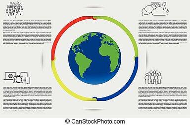 planeta, earth., infographics