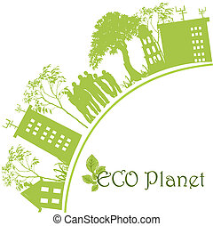 planeta, ecológico, verde
