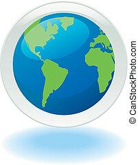 planeta, ekologia, ikona