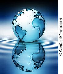 planeta, en, agua