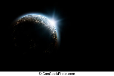 planeta, en, cosmos