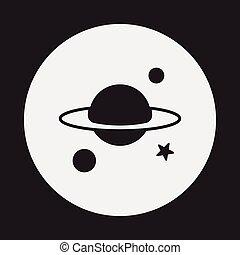 planeta, espacio, icono