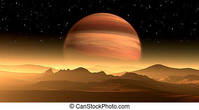 planeta, extrasolar, similar, nuevo, o, exoplanet, gigante, ...