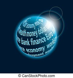 planeta, finanças, ícone