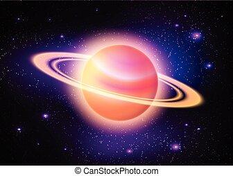 planeta, głęboki, przestrzeń