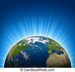 planeta, globo mundial, terra