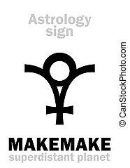 planeta, makemake, astrology: