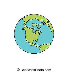 planeta, mundo, tierra, icono