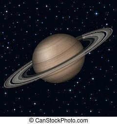 planeta, przestrzeń, saturn
