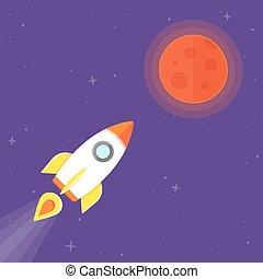 planeta, rakieta, mars