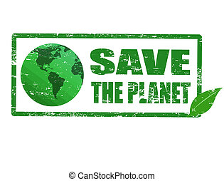 planeta, selo, salvar