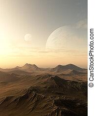 planeta, subida