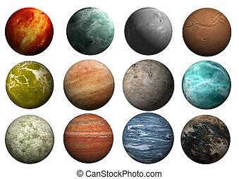 planeta, szablony