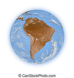planeta, terra,  América, SUL
