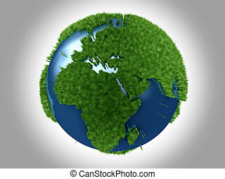planeta, verde