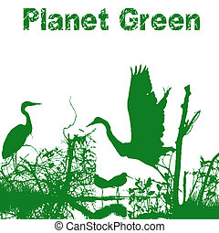 planeta, verde, natureza