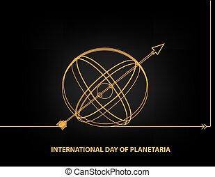 planetaria, internationaal, dag