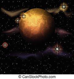 planetarisch, astronomie, hintergrund