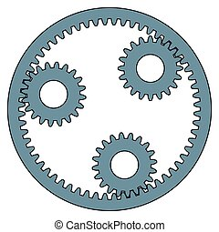 Planetary gear - Illustration of the planetary gear
