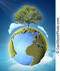 planetować ziemię, drzewo